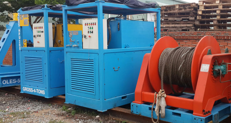 OLES 30 TONS HYDRAULIC WINCH 500