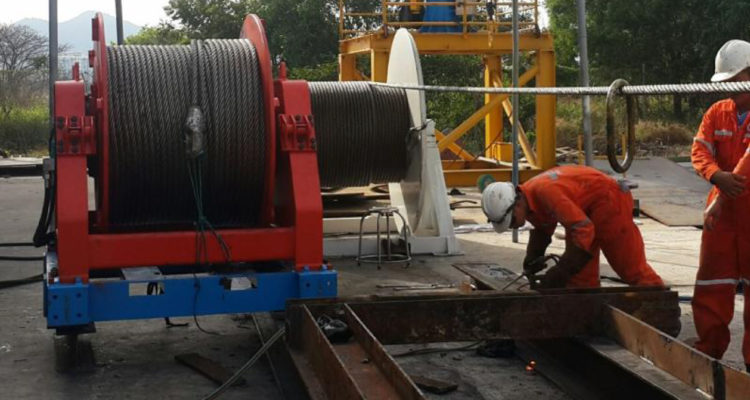OLES 15 TONS HYDRAULIC SPOOLING WINCH ( SPOOLER )