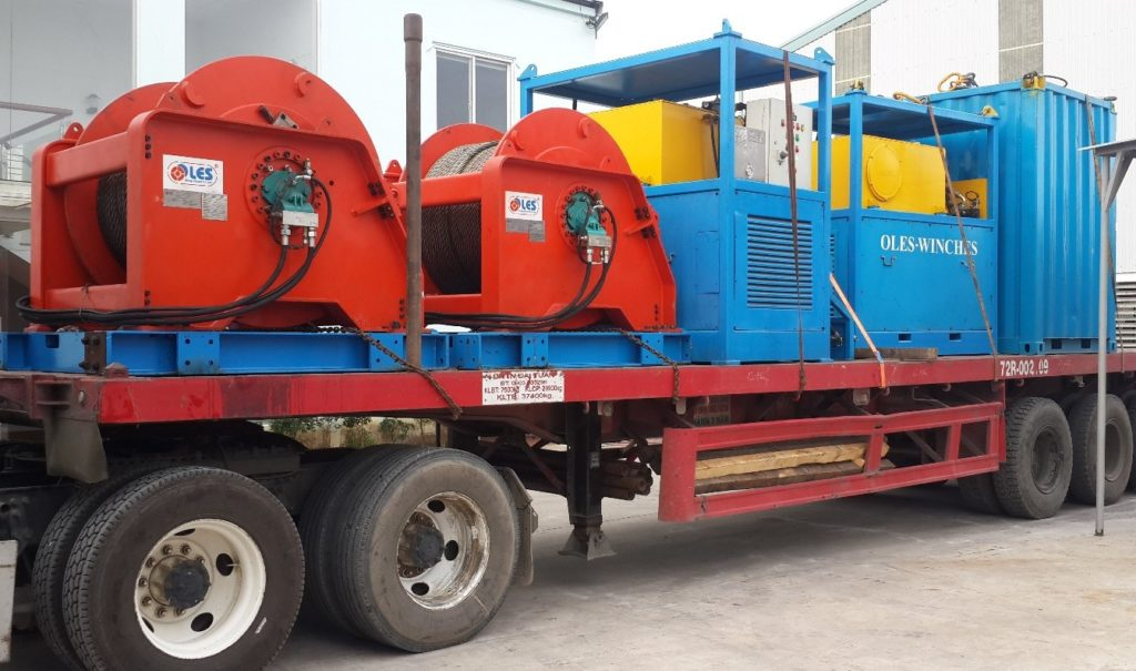 Hydraulic winch - Offshore Lifting Equipment Service